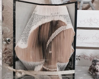 Folded book art - Vintage Lady - book art