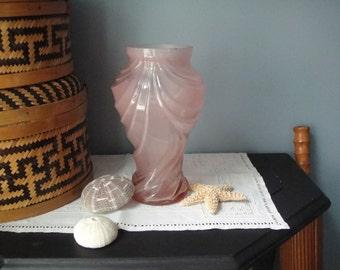 Lovely pink petite glass vase