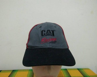 Rare Vintage CAT RACING | CATERPILLAR Cap Hat Free size fit all