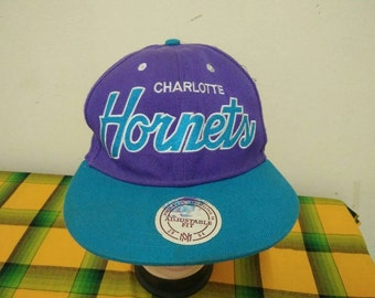 Rare Vintage CHARLOTTE HORNETS Cap Hat Free size fit all