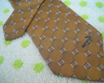 """VBT029 : Vintage Crocodile """"Personally Designed By Crocodile"""" Mens Necktie"""