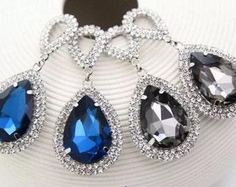Drop Earrings, Rhinestone Water Drop Earrings, Crystal Wedding Earrings, Party Earrings, Exotic Earrings