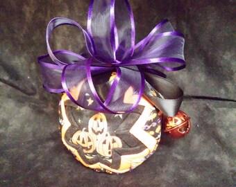 Pumpkin Patchwork Quilted Ornament