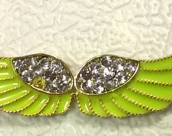 Green Angel Wings Necklace