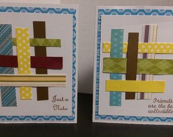 Basket weave friendship card