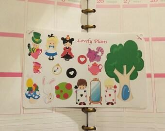 Wonderland stickers