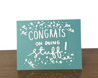 CONGRATULATIONS Card - Congrats - Promotion - New Job - Funny - Greeting Card