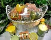 Votive Candle Gift Basket-Citrus
