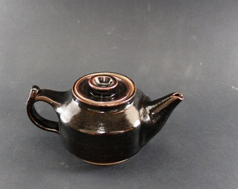 teapot with cups, black teapot, ceramic teapot, free shipping, small teapot, tea set, stoneware teapot, tea pot, ceramic tea set