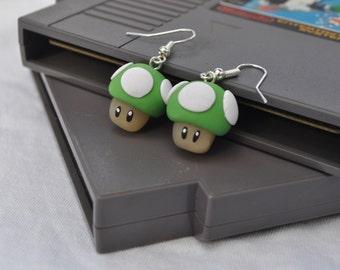 1Up! Mario Earrings (Medium)