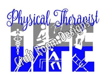 Physical Therapy & Physical Therapy Assistant Life Digital Design