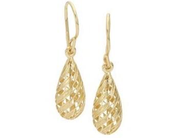 14K Gold Filigree Dangle Earrings
