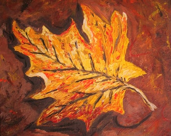 The Fall Guy, Maple Leaf painting, Autumn, Nature Painting
