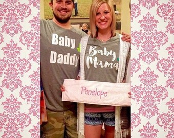 Baby Mama and Baby Daddy Shirt Set