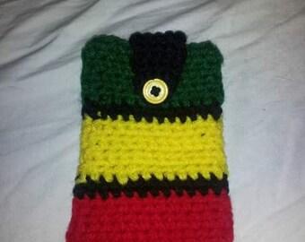 crochet Rasta Cell Phone Case