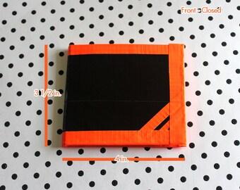 Bi-Fold Duct Tape Wallet - Black & Orange