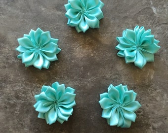Decorative Flowers, MINT, small flowers, satin flowers, wedding flowers, head band supply, head bands, silk flowers, roses, flowers