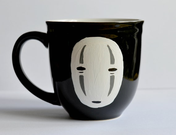 Hand Painted No Face Studio Ghibli Mug
