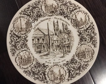 "Woods And Sons ""Old Montreal"" dining plate 10"""