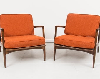 2 Original mid century Danish arm chairs Selig Chair by Designer Ib Kofod Larsen from Denmark