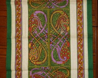 Book of Kells Irish linen kitchen towel. New
