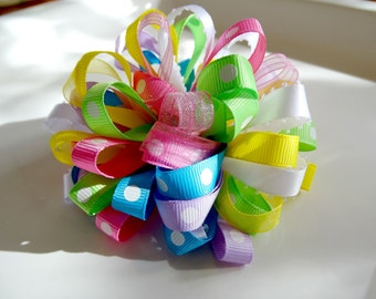 Easter Spring Puff Bow