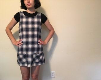 Plaid Jumper Dress, 90s Jumper Dress, Vintage Plaid Jumper Dress, Jumper Dress