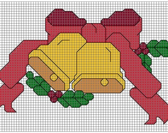 Christmas Bells 4x3 cross stitch pattern