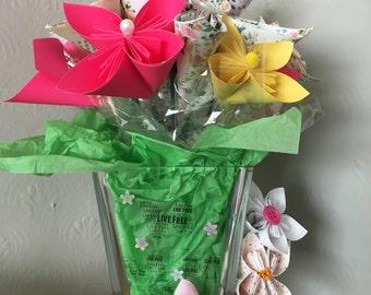 Paper Flower Vases