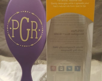 Great Gift for Her! Personalized Wet-Brush Shine Professional Hair Brush