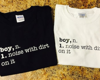 Boys noise with dirt on it t shirt black white