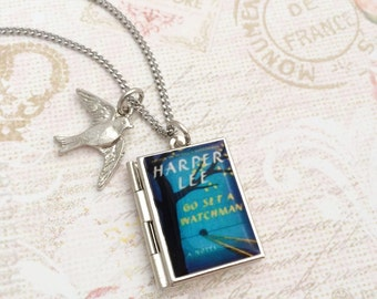 Go Set A Watchman Miniature Book Locket Necklace