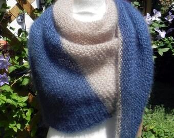 Shawl KNITTING cloth scarf cloth mohair cloth silk hand knitted shawls hand work
