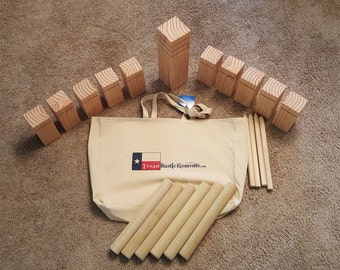 Kubb Viking outdoor lawn game - this handmade item is perfect for your next get together!