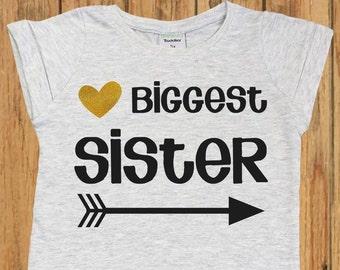 Biggest Sister Shirt, bigger sister, biggest sister, bigger sister shirt, sibling shirts, biggest sister top