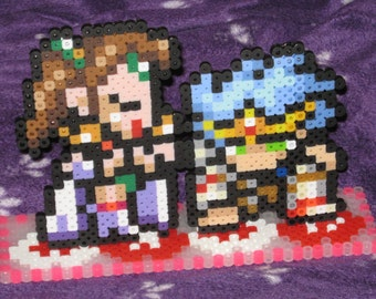 Final Fantasy IV Rosa and Cecil Perler Standee