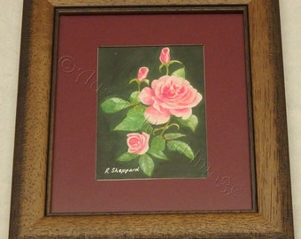 Regal In Pink, roses, rose buds, flowers, pretty, pale pink, dark pink, green leaves, elegant design,