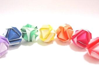 Origami kusudama ball, Origami modular ball, Origami ball, Kusudama ball, Origami decoration, Japanese origami art