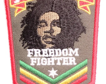 Vintage Rasta Freedom Bob Marley Sgt Sew On Embroidered Patch