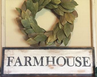 Farmhouse rustic sign