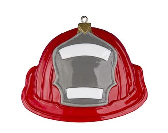 Fireman Hat Personalized Christmas Ornament
