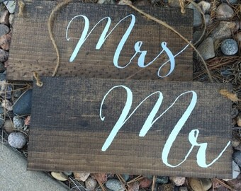 Mr. & Mrs. Signs - wedding signs - mr mrs chair boards