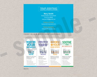 2-sided business cards // EDITABLE instant download // digital // Rodan+Fields inspired