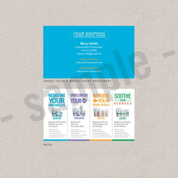 2 sided business cards EDITABLE instant digital