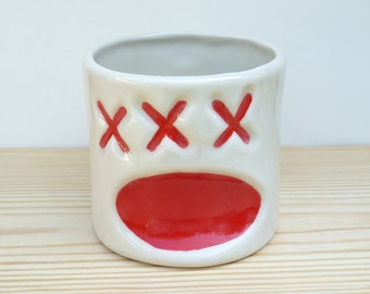 Grumpy Pants Greeting 2 Black And Red By Emojugs On Etsy