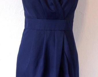 Alfred Sung Sleeveless Little Navy Blue Dress.  Size 8