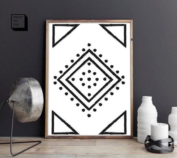 Https Www Etsy Com Listing 475628497 Navajo Print Aztec Print Boho Art