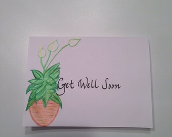 Get Well Soon Greeting Card in Calligraphy