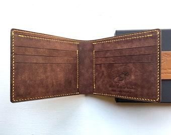 Fashion wallet, leather bifold wallet, handstitched leather wallet, mens leather bifold wallet, handsewn leather wallet, leather billfold