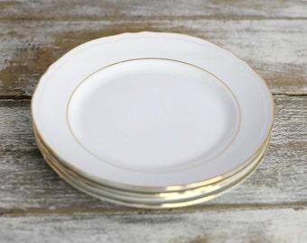 Gold rim dessert plates